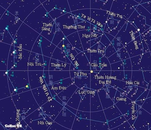 Bản đồ sao thời cổ đại - Cohoc.vn